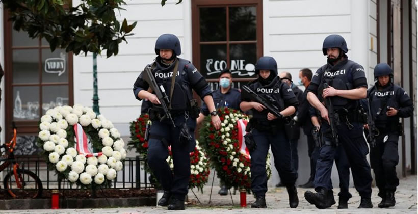 Police respond after Vienna Islamist terror attack